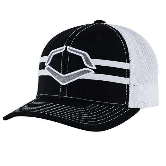 evoshield-grandstand-flexfit-hat-black-white-small-medium WTV1035344010SMMD
