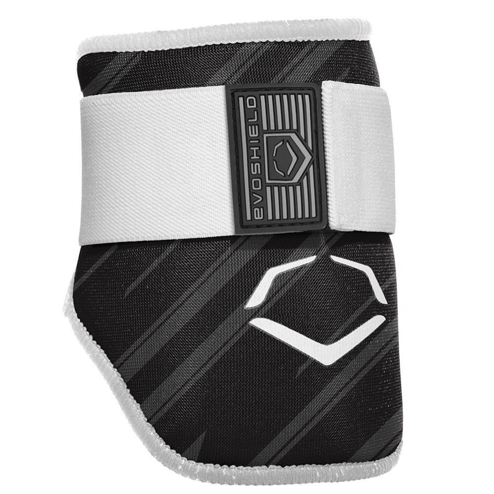 evoshield-mlb-batters-speed-stripe-elbow-guard-black-adult WTV2046120003  840041114874 The protective batters Elbow guard features a redesigned covering offering a