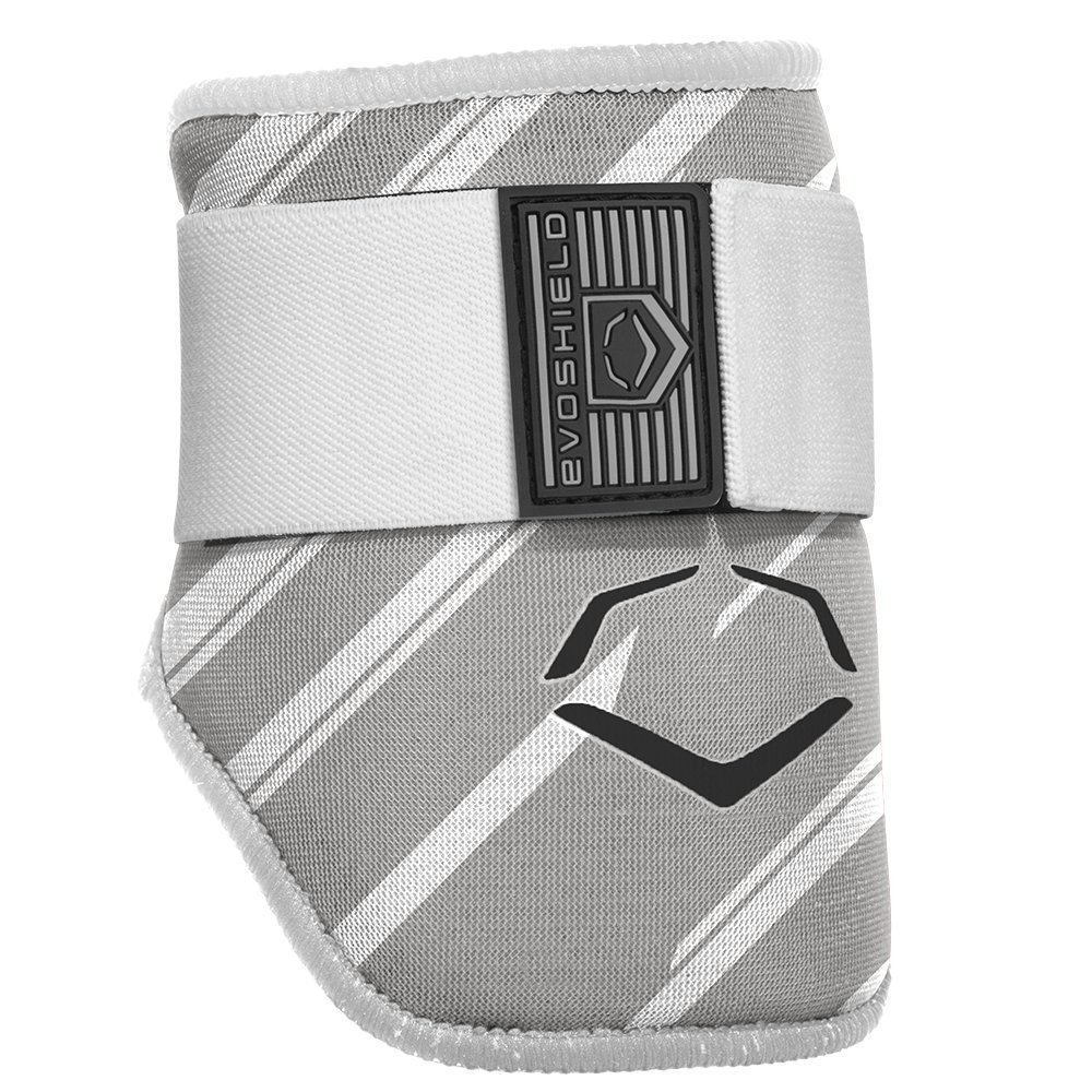 evoshield-mlb-batters-speed-stripe-elbow-guard-grey-adult 2046120063  840041114881 The protective batters Elbow guard features a redesigned covering offering a