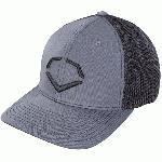 evoshield steed stripe mesh flexfit hat black grey small medium