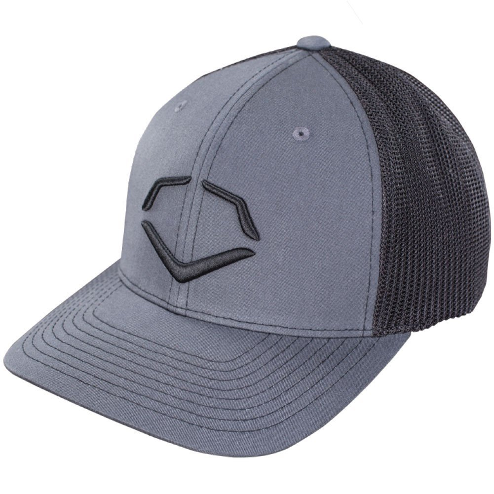 56% Polyester42% Cotton2% SPANDEX   Imported   Flex-fit trucker hat   Embroidered logo on front   Breathable mesh on back   Available in: s-m (7 - 7 14) and l-xl (7 38 - 7 58)