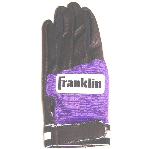 franklin-batting-glove-black-purple-1ea-large-right-hand 2865F4-LargeRight Hand Franklin New Franklin Batting Glove Black Purple 1ea Large Right Hand  Franklin