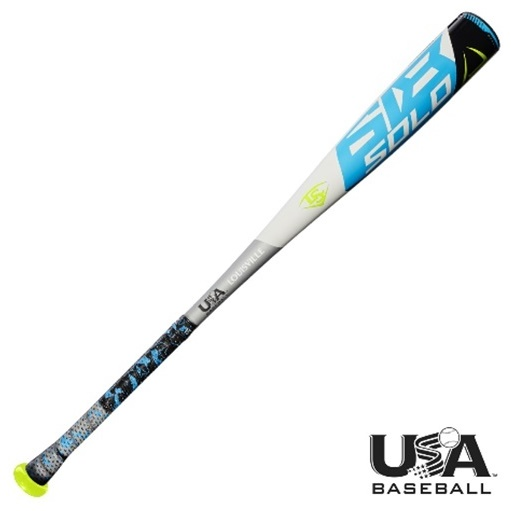 louisville-slugger-11-usa-solo-618-2-5-8-baseball-bat-30-inch-19-oz WTLUBS618B1130  887768636715 Meets new USA Baseball standards 1-piece sl hyper alloy construction New