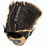 The Louisville Slugger Omaha Flare series baseball glove combines Louisville Sluggers iconic Flare design and professional patterns with game-ready performance leather.