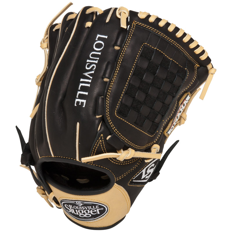 louisville-slugger-12-inch-fg-omaha-flare-baseball-glove-infielders-gloves-black FGOF14-BK120-Right Handed Throw Louisville 044277007065 The Louisville Slugger Omaha Flare series baseball glove combines Louisville Sluggers