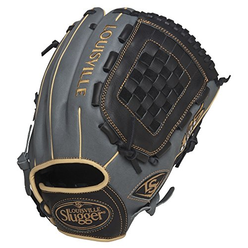 louisville-slugger-125-grey-12-inch-baseball-glove-no-tags-right-hand-throw FG25GY-1200-NOTAG Louisville  No String Tags Special Markdown Price.