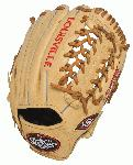 Louisville Slugger 125 Series Cream 11.5 inch Baseball Glove (Right Handed Throw) : Built for superior feel and an easier break-in period, the 125 Series is constructed with extra-tough dye-through lacing and genuine cowhide leather to provide unmatched strength and durability while wicking away perspiration with our Slugger Touch finger lining.