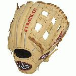 Louisville Slugger 125 Series Cream 11.75 inch Baseball Glove (Right Handed Throw) : Built for superior feel and an easier break-in period, the 125 Series is constructed with extra-tough dye-through lacing and genuine cowhide leather to provide unmatched strength and durability while wicking away perspiration with our Slugger Touch finger lining.
