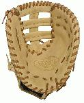 Louisville Slugger 125 Series Cream First Base Mitt 13 inch (Right Handed Throw) : Louisville Slugger 125 Series First Base Mitt. Built for superior feel and an easier break-in period, the 125 Series is constructed with extra-tough dye-through lacing and genuine cowhide leather to provide unmatched strength and durability while wicking away perspiration with our Slugger Touch finger lining.
