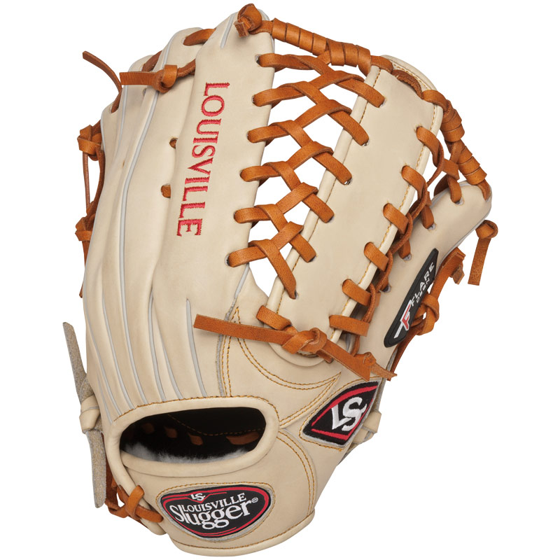 louisville-slugger-13-inch-fg-pro-flare-baseball-glove-outfielder-cream-right-hand-throw FGPF14-CR130-Right Handed Throw Louisville 044277006563 Louisville Slugger Pro Flare Fielding Gloves are preferred by top professional