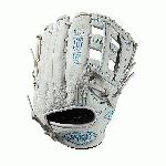 12.5 pitcher's glove Dual post web Memory foam wrist lining White and Aqua blue Female-specific patterns Needing minimal break-in and designed with memory foam wrist lining and patterns specific to female athletes, this 11.75 Xeno infield model features a Dual Post Web construction in a white and aqua blue design. When top-of-the-line leather meets a soft lining, a game-ready glove like no other is born. The Xeno is the perfect combination of style and feel for the young Fastpitch player. - 11.75 inch female specific model - Dual Post web - Top-of-the-line leather - Easy break-in - Memory foam wrist lining