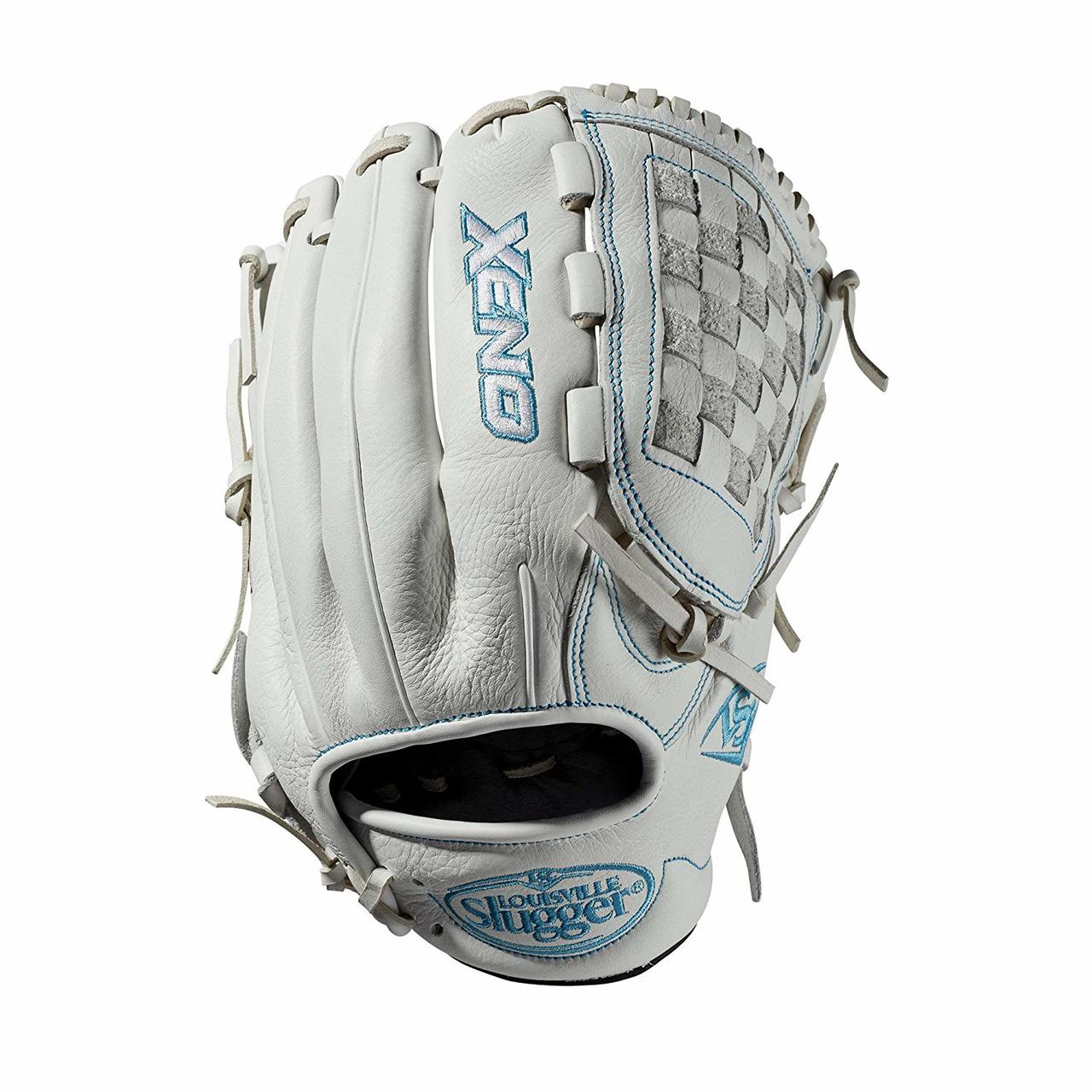 louisville-slugger-2019-xeno-fastpitch-softball-glove-12-inch-right-hand-throw WTLXNRF1912-RightHandThrow  887768711351 12 infield glove Closed weave web Memory foam wrist lining White