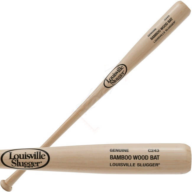 louisville-slugger-bamboo-wood-baseball-bat-bc243-bamboo-33-inch BC243-33  044277965402 Bamboo wood bats from Louisville Slugger are made to sound look
