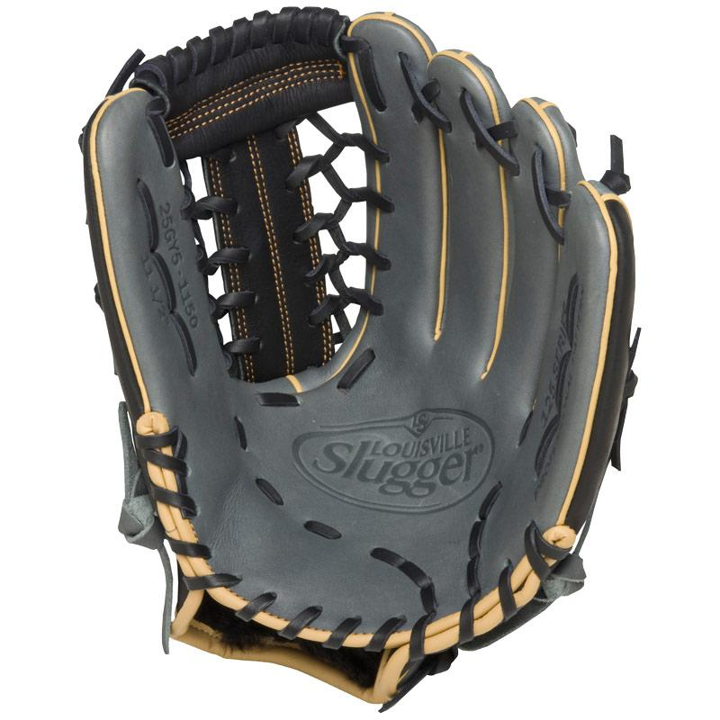 louisville-slugger-fg25gy5-125-series-gray-fielding-glove-11-5-inch-left-hand-throw FG25GY5-1150-Left Handed Throw Louisville 044277052676 Louisville Slugger 125 Series. Built for superior feel and an easier