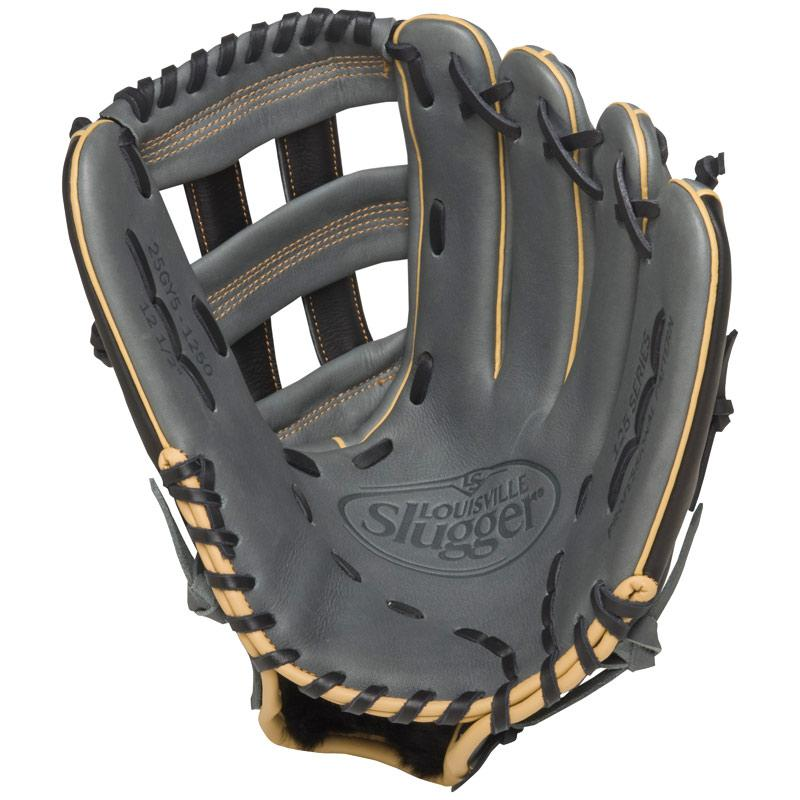 louisville-slugger-fg25gy5-125-series-gray-fielding-glove-12-5-inch-left-hand-throw FG25GY5-1250-Left Handed Throw Louisville 044277052638 Built for superior feel and an easier break-in period the 125