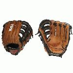 Louisville Slugger LEFT HAND THROW 12.75 LEFT HAND THROW Pro Flare Series Baseball Glove. 12 34 Inch Outfield model. Conventional open back. Single post double bar web. Pro Flare Design. Top grade oil infused Horween leather. Combines unmatched durability with ultra quick break in. Flare design provides larger catching surface with a flat and deep pocket. Extra wide lacing for added strength. Preferred by top professional and collegiate players.