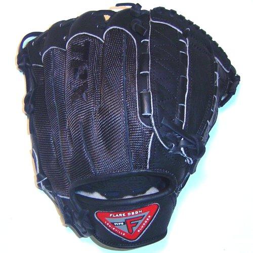 louisville-slugger-flare-fl1200bm-12-inch-mesh-back-baseball-glove-right-hand-throw FL1200BM Louisville  Louisville Slugger Black Mesh 12 Pro Flare Series Dual Hinge Web