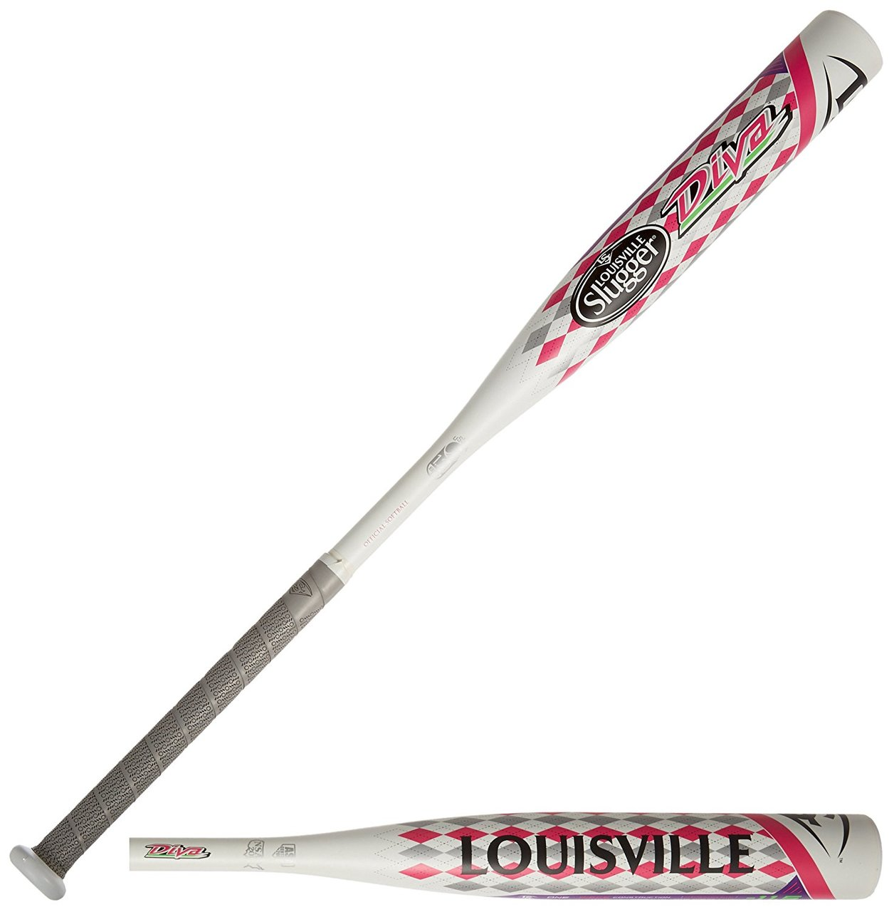 louisville-slugger-fpdv151-2015-diva-11-5-fast-pitch-baseball-bat-28-inch-16-5-oz WTLFPDV151-28 Louisville  The Divas alloy construction and 2 1/4 barrel give it a