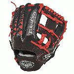 Louisville Slugger HD9 11.25 inch Baseball Glove (Scarlet, Right Hand Throw) : The HD9 Series is built with revolutionary hybrid leathermeshkanga weave construction for the lightweight performance and durability demanded by high-level players.  Offered in many colors, the HD9 series helps each player stand out on the field.