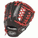 Louisville Slugger HD9 11.5 inch Baseball Glove (Scarlet, Right Hand Throw) : The HD9 Series is built with revolutionary hybrid leathermeshkanga weave construction for the lightweight performance and durability demanded by high-level players.  Offered in many colors, the HD9 series helps each player stand out on the field.