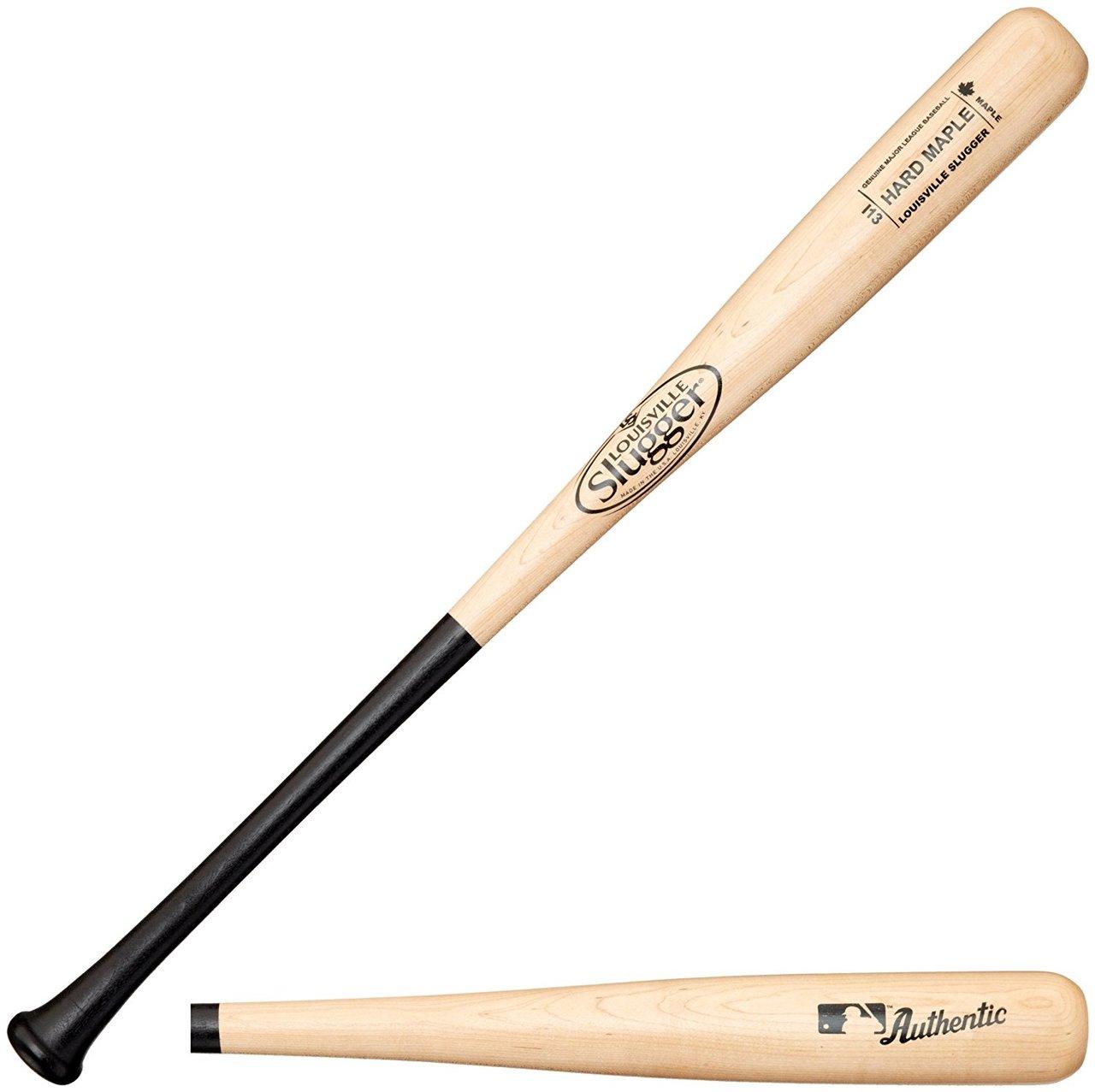 louisville-slugger-i13-hard-maple-wood-baseball-bat-33-inch WBHM14-13CBN33 Louisville 044277004170 Louisville Slugger Hard Maple Wood Baseball Bat Turning model I13 is
