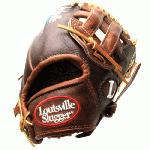 Louisville Slugger IC1175 Icon Series 11.75 Baseball Glove (Right Handed Throw) : Handcrafted from American steer hide. Extra-wide laces for ultimate durability. Perforated palm lining provides enhanced feel. Top professional patterns.