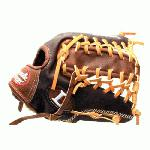 Louisville Slugger IC1275 Icon Series 12.75 Baseball Glove (Left Handed Throw) : Handcrafted from American steer hide. Extra-wide laces for ultimate durability. Perforated palm lining provides enhanced feel. Top professional patterns.