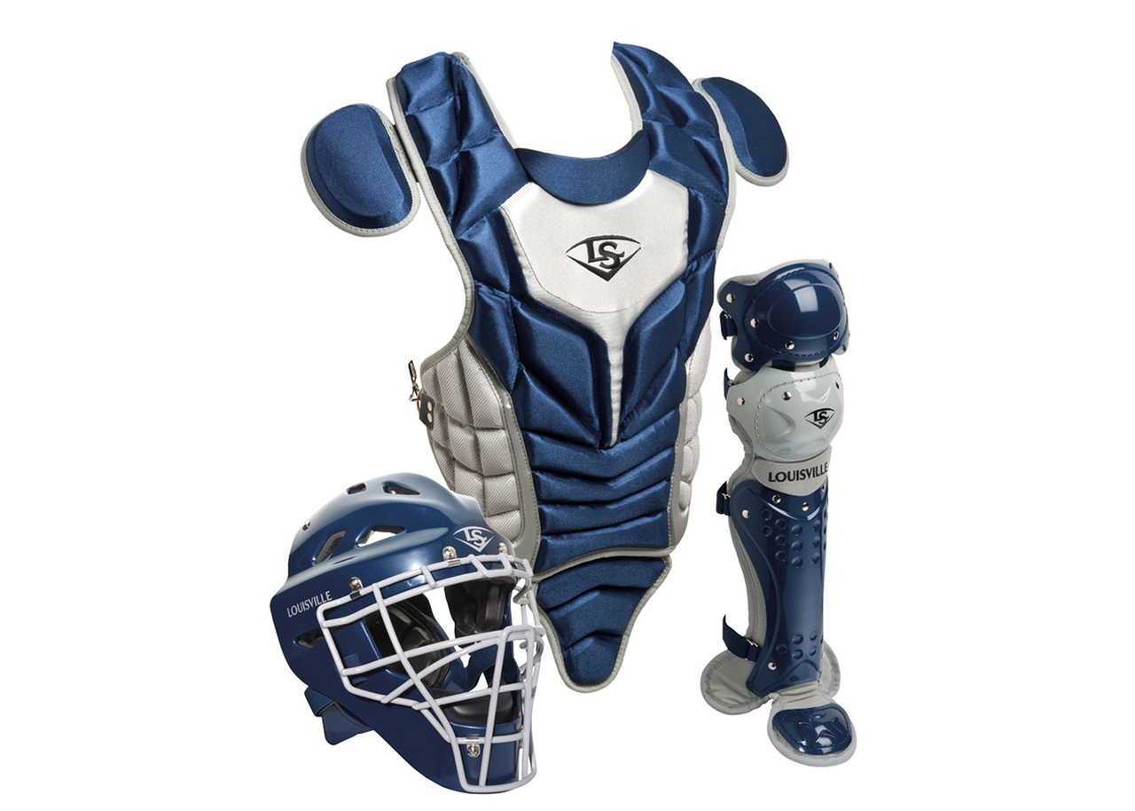 louisville-slugger-intermediate-pg-series-5-catchers-set-navy-gray PGS514-STING Louisville 044277012595 Made from extra-tough lightweight materials that keep you protected while easily