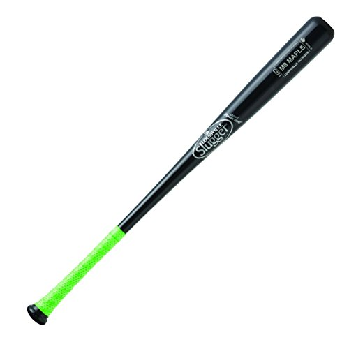 louisville-slugger-m9-maple-c271-wood-baseball-bat-33-inch WBM9271-BKL-33 inch Louisville Slugger 044277054236 Louisville Slugger M9 Maple Wood Baseball Bat with Lizard Skins Grip.