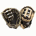 The Louisville Slugger Omaha Flare series baseball glove combines Louisville Slugger\x iconic Flare design and professional patterns with game-ready performance leather.