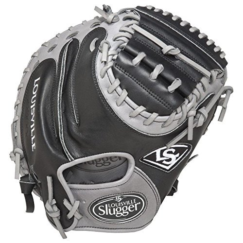 louisville-slugger-omaha-flare-black-catchers-mitt-33-5-right-handed-throw FGOFBK5-CTM1-Right Handed Throw Louisville 044277052492 Lousville Slugger Omaha Flare combines iconic flare design and professional patterns