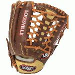 Louisville Slugger Omaha Pure Baseball Glove Brown 11.75 Left Hand Throw