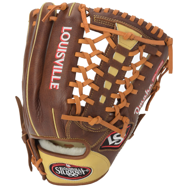 louisville-slugger-omaha-pure-baseball-glove-brown-11-75-left-hand-throw FGPRBN6-1175-LeftHandThrow Louisville 044277133153 The Omaha Pure series brings premium performance and feel to these