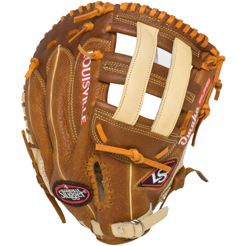 louisville-slugger-omaha-pure-brown-first-base-mitt FGPRBN6-FBM1-RightHandThrow Louisville 044277133177 The Omaha Pure series brings premium performance and feel to these