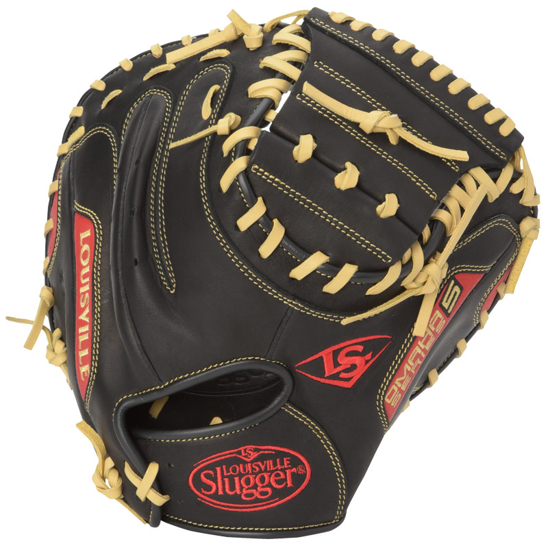louisville-slugger-omaha-s5-scarlet-catchers-mitt-black-with-scarlet FGS5SR6-CTM1-RightHandThrow Louisville 044277135645 The Omaha Series 5 delivers standout performance in an all new