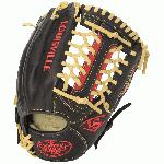 The Omaha Series 5 delivers standout performance in an all new line of Louisville Slugger Baseball Gloves. The series is built with premium Cambio leather in a full range of professional patterns, perfect for players moving up into the higher levels of baseball. Omaha Series 5 11.5 Ball Glove Features: Premium Grade Cambio leather shell Unique Edge-Lace design for additional stability Full grain leather palm lining Premium lacing 11.5 Infield/Pitcher pattern Open Back Mod Trap Web One Year Manufacturer's Warranty