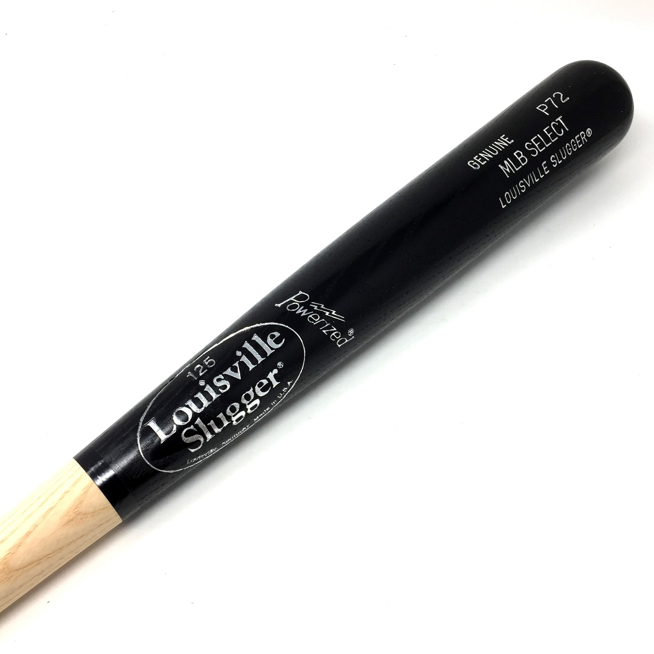 louisville-slugger-p72-mlb-select-ash-black-wood-baseball-bat-33-5-inch WBBP14P72NBK-33.5 inch Louisville Slugger 044277027032 Louisville Slugger P72 Turning Model Wood Baseball Bat. MLB Select Ash