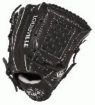 Louisville Slugger Pro Flare Black 12 inch Baseball Glove (Right Handed Throw) : Louisville Slugger Pro Flare Fielding Gloves are preferred by top professional and college players.They are designed with the speed of the game in mind. Louisville Slugger Pro Flare gloves are designed to keep pace with the evolution of Baseball. The unique Flare design allows for quick-transfer of ball from glove to hand, because every split second counts. Better technology, better materials and better design. There is a larger catching surface area made possible by the extra wide lacing and curved finger tips. The gloves are made from professional-grade oil infused leather for maximum feel and performance.