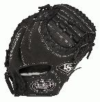 Louisville Slugger Pro Flare Black 32.5 inch Catchers Mitt (Right Handed Throw) : Louisville Slugger Pro Flare gloves are designed to keep pace with the evolution of Baseball. The unique Flare design allows for quick-transfer of ball from glove to hand,because every split second counts. Better technology, better materials and better design. There is a larger catching surface area made possible by the extra wide lacing and curved finger tips. The gloves are made from professional-grade, oil-infused leather for maximum feel and performance right off the shelf.
