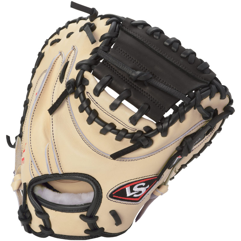 louisville-slugger-pro-flare-catchers-mitt-cream-black-right-hand-throw FGPF14-CRCTM2-RightHandThrow Louisville 044277133092 Designed with the speed of the game in mind. Louisville Slugger