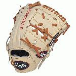 Louisville Slugger Pro Flare Cream 11.75 2 piece Web Baseball Glove Right Handed Throw