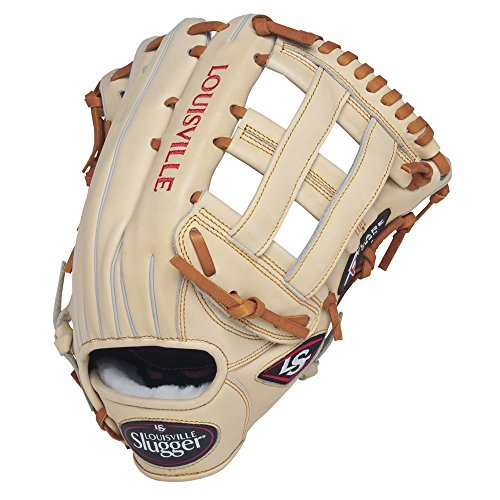 louisville-slugger-pro-flare-cream-12-75-inch-baseball-glove-left-handed-throw FGPF14-CR127-Left Handed Throw Louisville Slugger 044277051877 Louisville Slugger Pro Flare Outfield Glove. Designed with the speed of