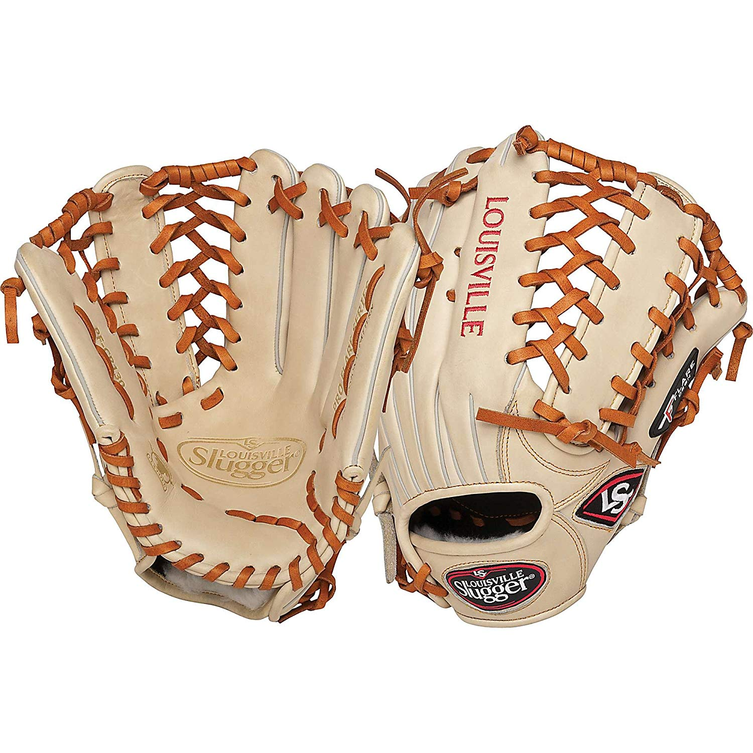 louisville-slugger-pro-flare-cream-13-inch-outfield-baseball-glove-left-handed-throw FGPF14-CR130-Left Handed Throw Louisville 044277019433 Louisville Slugger Pro Flare Cream 13 inch Outfield Baseball Glove Left