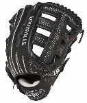 Louisville Slugger Pro Flare Black 12.75 in Baseball Glove (Right Handed Throw) : Louisville Slugger Pro Flare Fielding Gloves are preferred by top professional and college players. They are designed with the speed of the game in mind. Louisville Slugger Pro Flare gloves are designed to keep pace with the evolution of Baseball. The unique Flare design allows for quick-transfer of ball from glove to hand. Better technology, better materials and better design. There is a larger catching surface area made possible by the extra wide lacing and curved finger tips. The gloves are made from professional-grade, oil-infused leather for maximum feel and performance right off the shelf. The Louisville Slugger Pro Flare has unmatched durability and quick break-in.