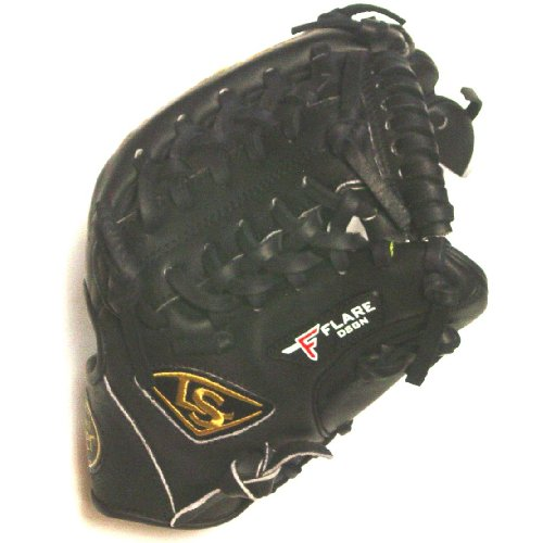 Modified Trap Web and Open Back. Gold Stitching. Louisville Slugger Pro Flare Baseball Glove 11.75 inches. Top Grade oil fused horween leather. Top grade performance series with pro prefreed flare design. Combines unmatched durability with ultra quick break in. Flare desing provides larger catching surface with a flat and deep pocket. Extra wide lacing for added strength. Preferred by top professional and collegiate players. Louisville Slugger is devoted to making great basball glove for all levels of play.