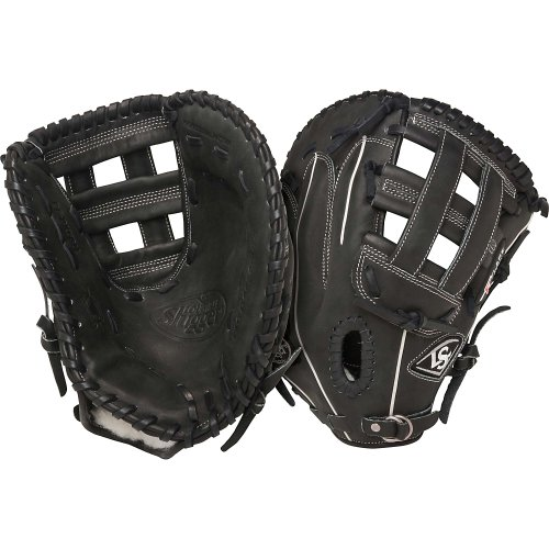 Louisville Slugger Pro Flare First Base Mitt 13 inch (Right Handed Throw) : Louisville Slugger Pro Flare Fielding Gloves are preferred by top professional and college players. They are designed with the speed of the game in mind. Louisville Slugger Pro Flare gloves are designed to keep pace with the evolution of Baseball. The unique Flare design allows for quick-transfer of ball from glove to hand. Better technology, better materials and better design. There is a larger catching surface area made possible by the extra wide lacing and curved finger tips. The gloves are made from professional-grade, oil-infused leather for maximum feel and performance right off the shelf. The Louisville Slugger Pro Flare has unmatched durability and quick break-in.