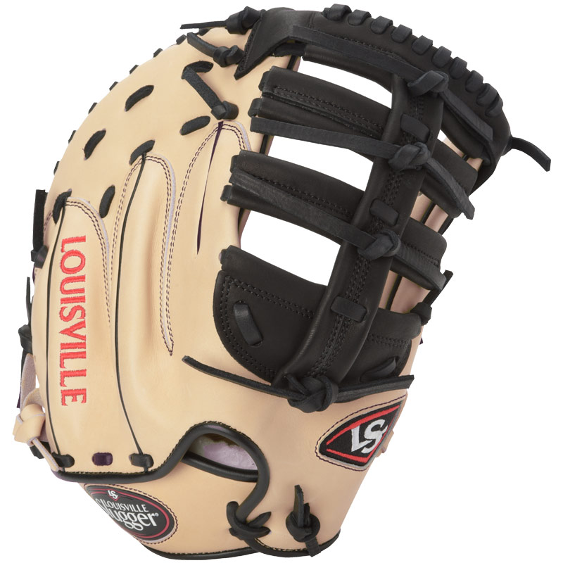 louisville-slugger-pro-flare-first-base-mitt-cream-black-left-hand-throw FGPF14-CRFBM2-LeftHandThrow Louisville 044277133085 Designed with the speed of the game in mind. Louisville Slugger