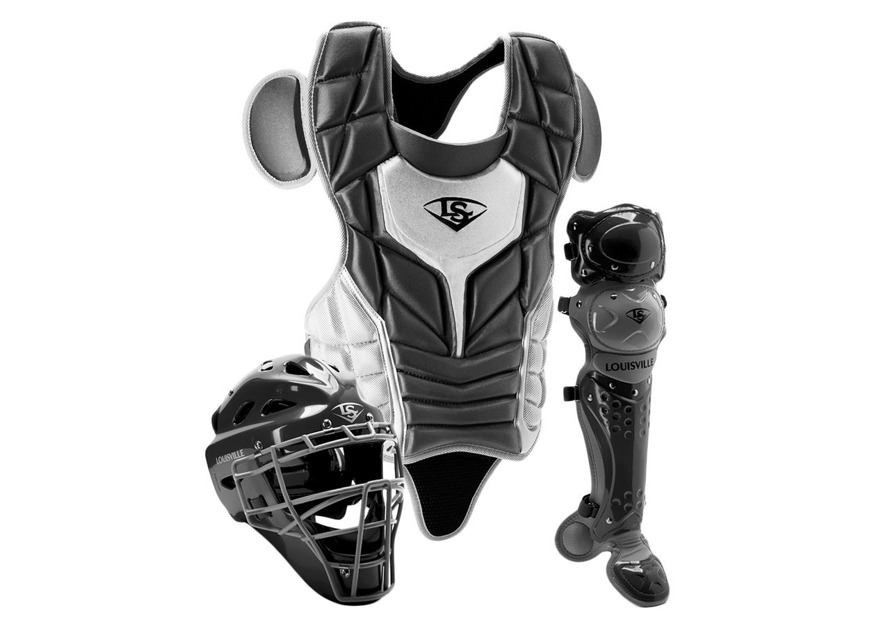 louisville-slugger-series-5-3-piece-catchers-set-intermediate-black-grey PGS514-STIBG Louisville B00LU9N9VW Made from extra-tough lightweight materials that keep you protected while easily