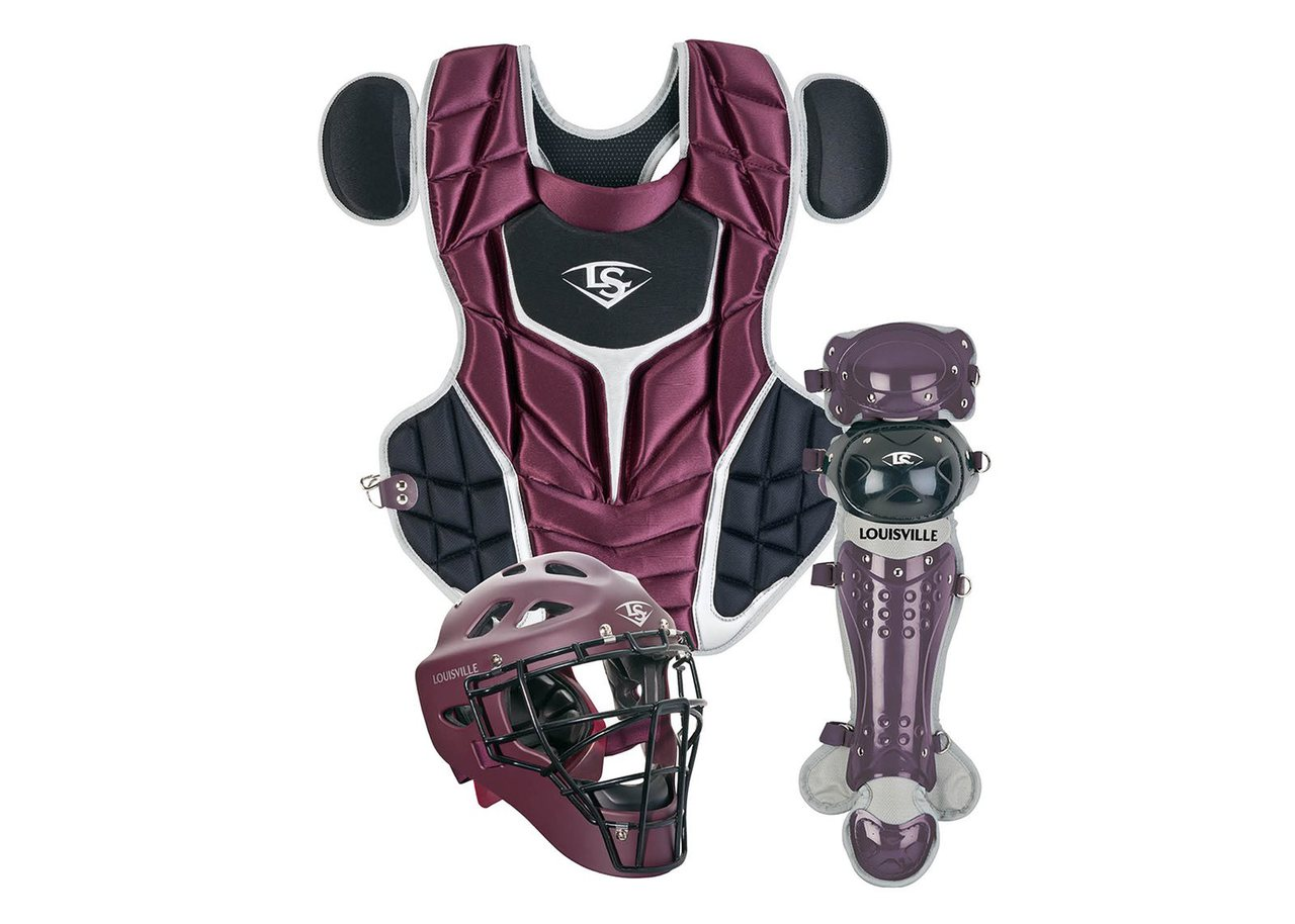 louisville-slugger-series-5-3-piece-fastpitch-catchers-set-intermediate-maroon-black PGFPIS6-MB Louisville B0165B9YB8 Made from extra-tough lightweight materials that keep you protected while easily