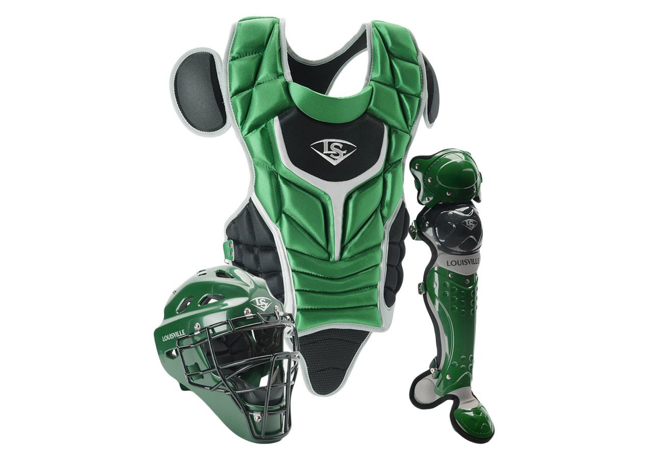 louisville-slugger-series-5-intermediate-fastpitch-softball-catchers-set-dark-green-black PGFPIS6-GB Louisville B0163F9VFK Made from extra-tough lightweight materials that keep you protected while easily